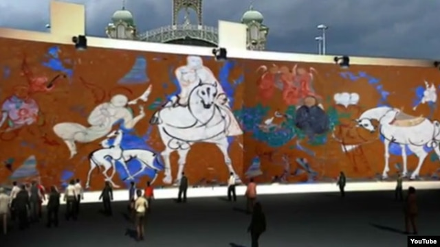A promotional video presents a mock-up of the exhibition of Lekim Ibragimov's massive work in Prague.