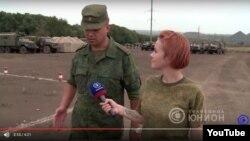 Танковый биатлон вблизи шахт и линий электропередач (снимок с YouTube)