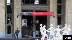 Волгоград қаласының теміржол вокзалының жарылыстан кейінгі көрінісі. 29 желтоқсан 2013 жыл.