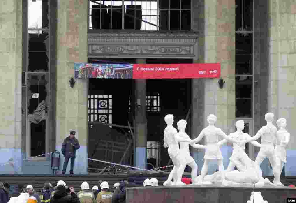 Таркиши рӯзи 29 декабр дар вокзали Волгоград