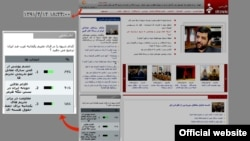 A Radio Farda screen shot from July 3 of Iran's irinn.ir website with the polling showing 62 percent of respondents in favor of stopping uranium enrichment to remove international sanctions.