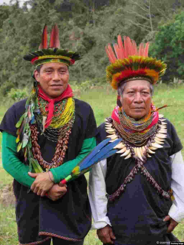 Представители коренных народов Амазонки, Эквадор, Южная Америка