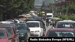 Сообраќаен метеж во Тетово.
