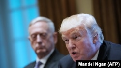 U.S. President Donald Trump and Defense Secretary Jim Mattis