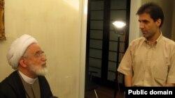 محمدحسین کروبی در کنار پدرش مهدی کروبی