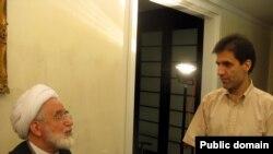 حسین کروبی به همراه پدرش مهدی کروبی