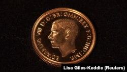 Золотой соверен с изображением короля Эдуарда VIII