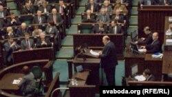 Польскі Сэйм прымае рэзалюцыю па Беларусі, 25 лютага 2012