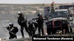 Прикордонна поліція Ізраїлю під час протестів палестинців. 15 травня 2018 року