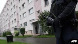 Полицейский рейд в Хемнице. Германия, 8 октября 2016 года.