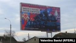 """Panou electoral la Dubăsari: """"Împreună cu Rusia, împotriva oligarhilor"""""""