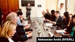Ministar spoljnih poslova Srbije Ivica Dačić sa šeficom norveške diplomatije Inom Eriksen Soreide