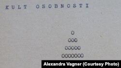 """Стихотворение """"Культ личности"""" на выставке визуальной поэзии Вацлава Гавела"""