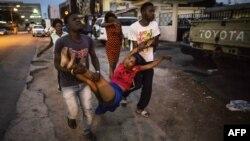 Задержание студентов, протестующих против переизбрания Али Бонго. Либревиль, 1 сентября 2016 года