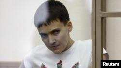 Надія Савченко під час суду в Росії, 9 березня 2016 року