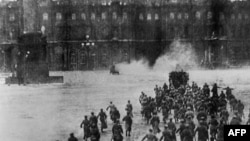 """The Russian Revolution of 1917 is one of the events from the country's past that could come under the remit of a proposed center for protecting against the """"falsification"""" of history (file photo)"""