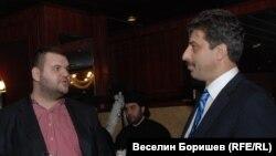 Депутатът от ДПС Делян Пеевски и банкерът Цветан Василев по времето, когато имаха добри отношения