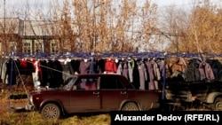 Село Мостовское. Магазин китайской одежды