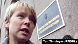 Russian opposition leader Yevgenia Chirikova