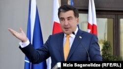 Грузия президенті Михаил Саакашвили. Тбилиси, 27 маусым 2013 жыл.