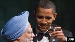 Američki predsjednik na prijemu sa indijskim premijerom Manmohana Singhom