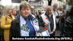 Учасники «Маршу пам'яті» на вшанування жертв Бабиного Яру, Київ, 29 вересня 2019 року
