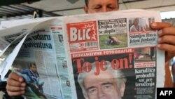 Slika Radovana Karadžića posle hapšenja na naslovnoj stranici Blica