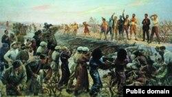 Расстрел 26 бакинских комиссаров. Картина Исаака Бродского (1925).