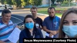 Куштауны яклаучы активистлар Ишембай полициясе янында