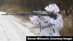 Stevan Milošević, dobrovoljac u Luganjsku