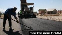 Yol çəkilişi. Foto arxiv