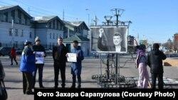 Акция памяти Бориса Немцова в Иркутске