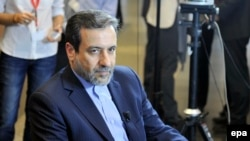 Iranian Deputy Foreign Minister Abbas Araqchi at the nuclear talks between world powers and Iran in Vienna on February 18