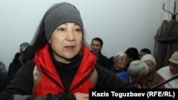 Айыпталушы Жазира Демеуова сот залында. Алматы, 15 қараша 2019 жыл.