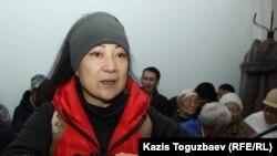 Подсудимая Жазира Демеуова в зале судебного заседания. Алматы, 15 ноября 2019 года.