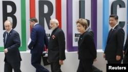 Лидеры БРИКС на саммите в Уфе