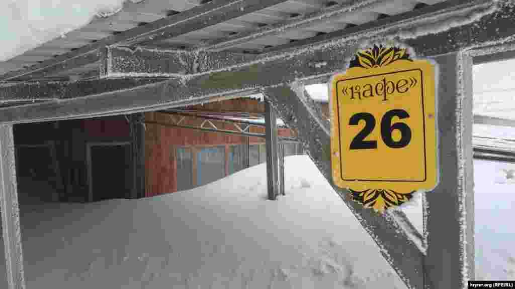 Кафе на плато Ай-Петри занесло снегом, 25 января 2017 года