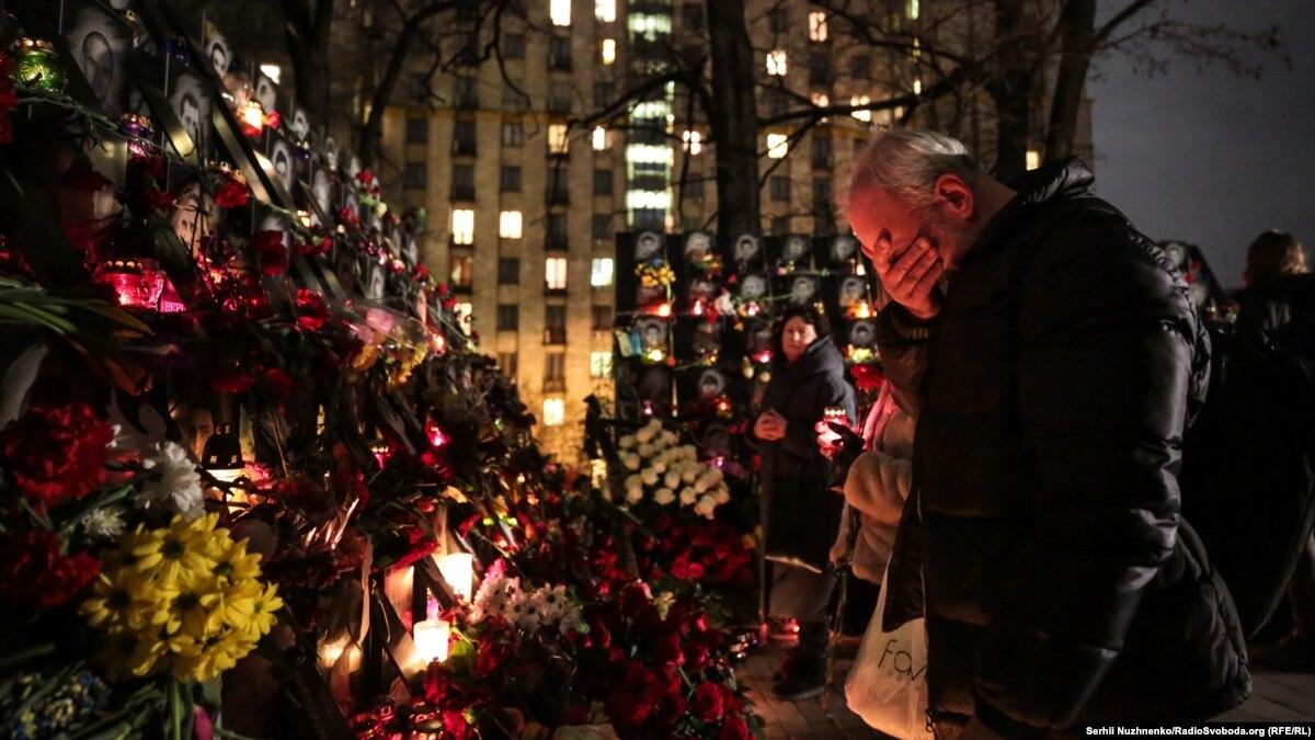 Вечер памяти Небесной сотни на майдане Независимости в Киеве – фотогалерея