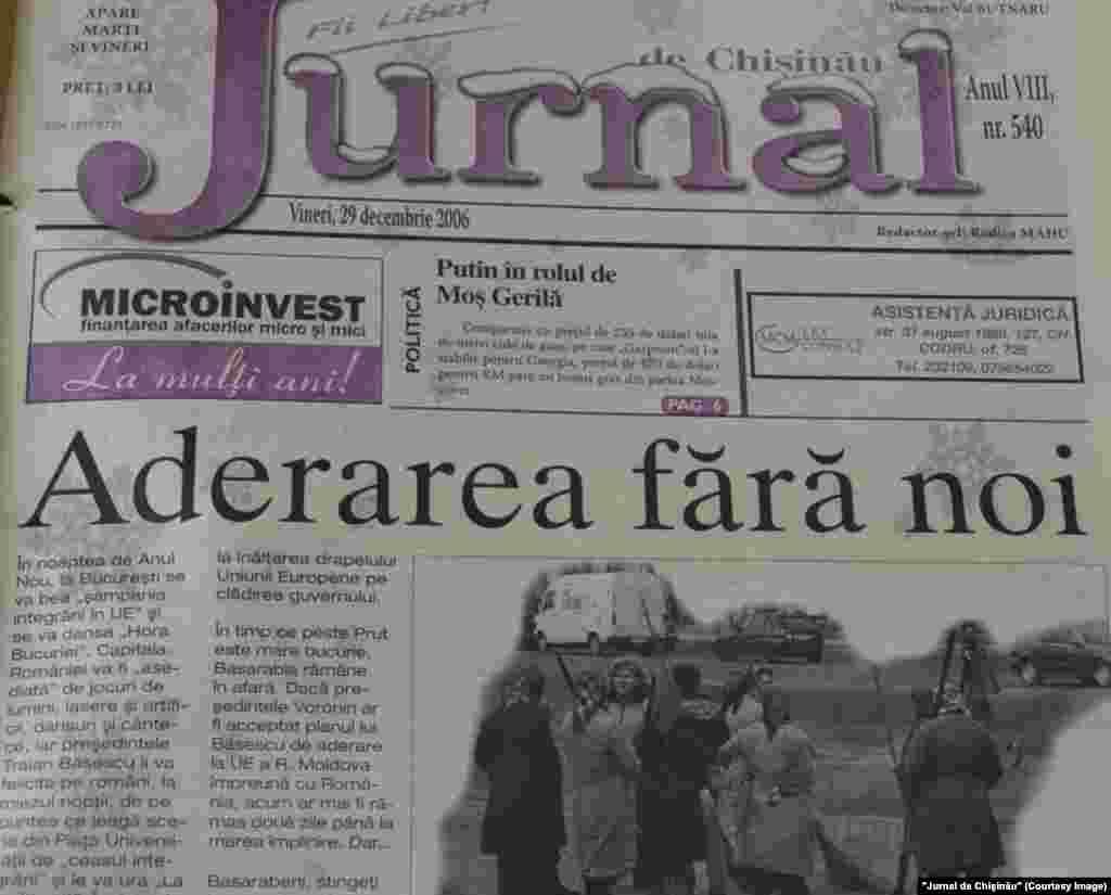"""""""Jurnal de Chişinău"""",29 decembrie 2006"""