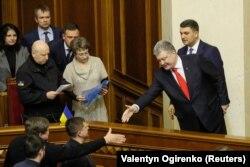 Петр Порошенко дар порлумони Украина.