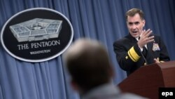 Pentagon spokesman U.S. Rear Admiral John Kirby said U.S. forces launched a second wave of air strikes against Islamic State (IS) in northern Iraq on August 8, destroying a mortar position and killing a group of militants.