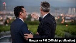 Премиерот Зоран Заев и Генералниот секретар на НАТО Јенс Столтенберг