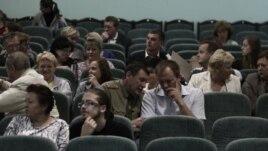 На слушаниях по проекту Китайско-Белорусского индустриального парка. Смалявичи, 24 июля 2013 года.