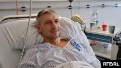 Одеський активіст Олег Михайлик після операції в Мюнхені, Німеччина