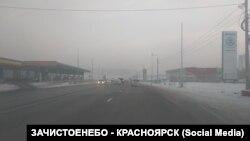 Смог в Красноярске, архивное фото