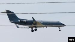 Aeroplani me të cilin, Nancy Writebol, është kthyer në SHBA