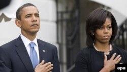 АҚШ президенті Барак Обама мен оның зайыбы Мишель Обама. Вашингтон, 11 қыркүйек 2009 жыл.