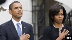АҚШ Президенти Барак Обама ва рафиқаси Мишел Обама.