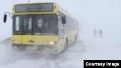 Қарағанды облысындағы қарлы боран. (Көрнекі сурет).