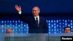 Путин на церемонии открытия Олимпиады в Сочи